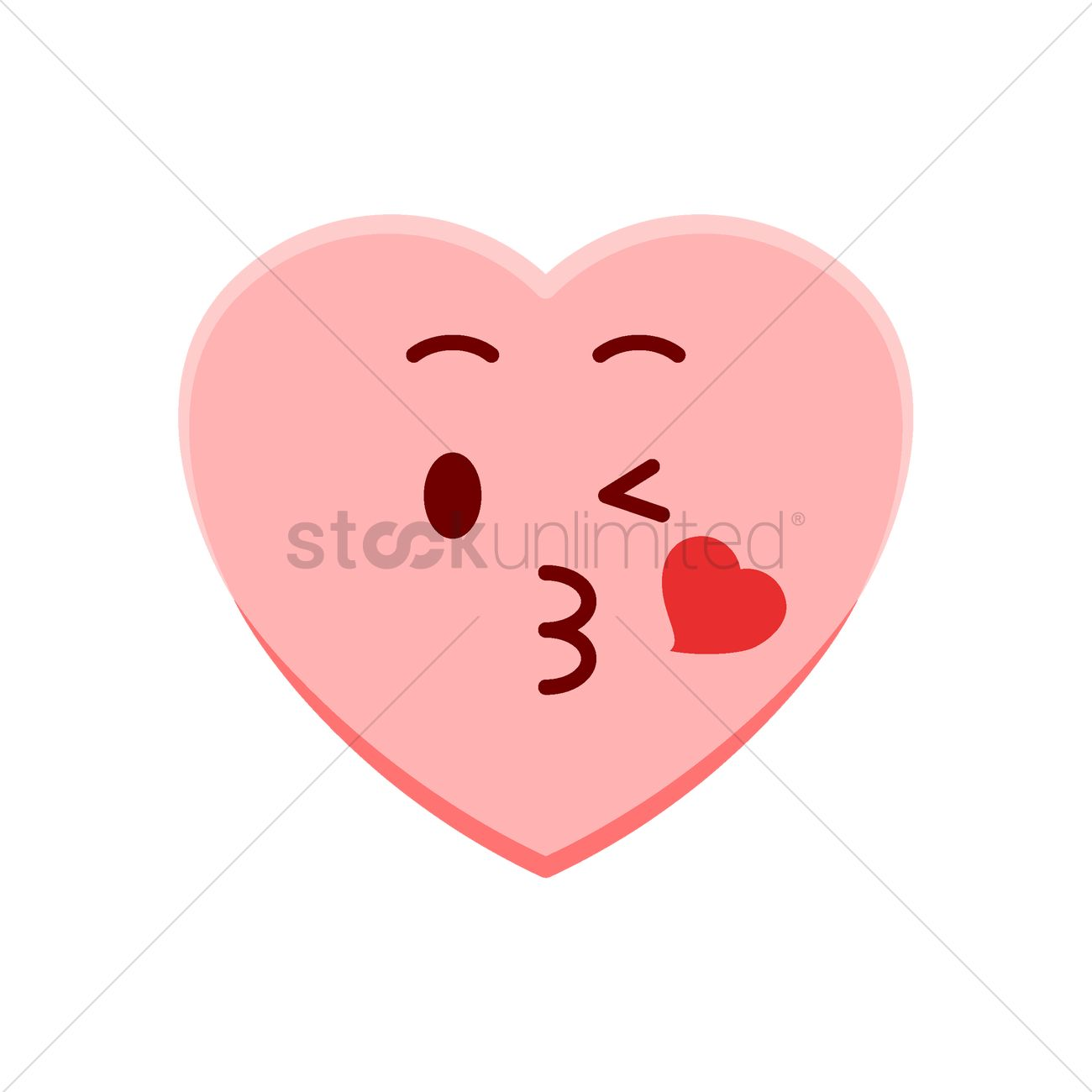 Heart Character Blowing A Kiss Vector Image 1977539 Stockunlimited