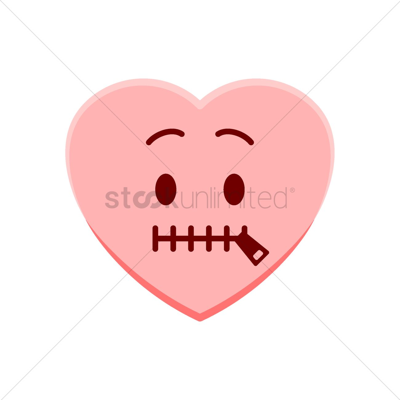 Heart Character With Mouth Zipped Vector Image 1977547