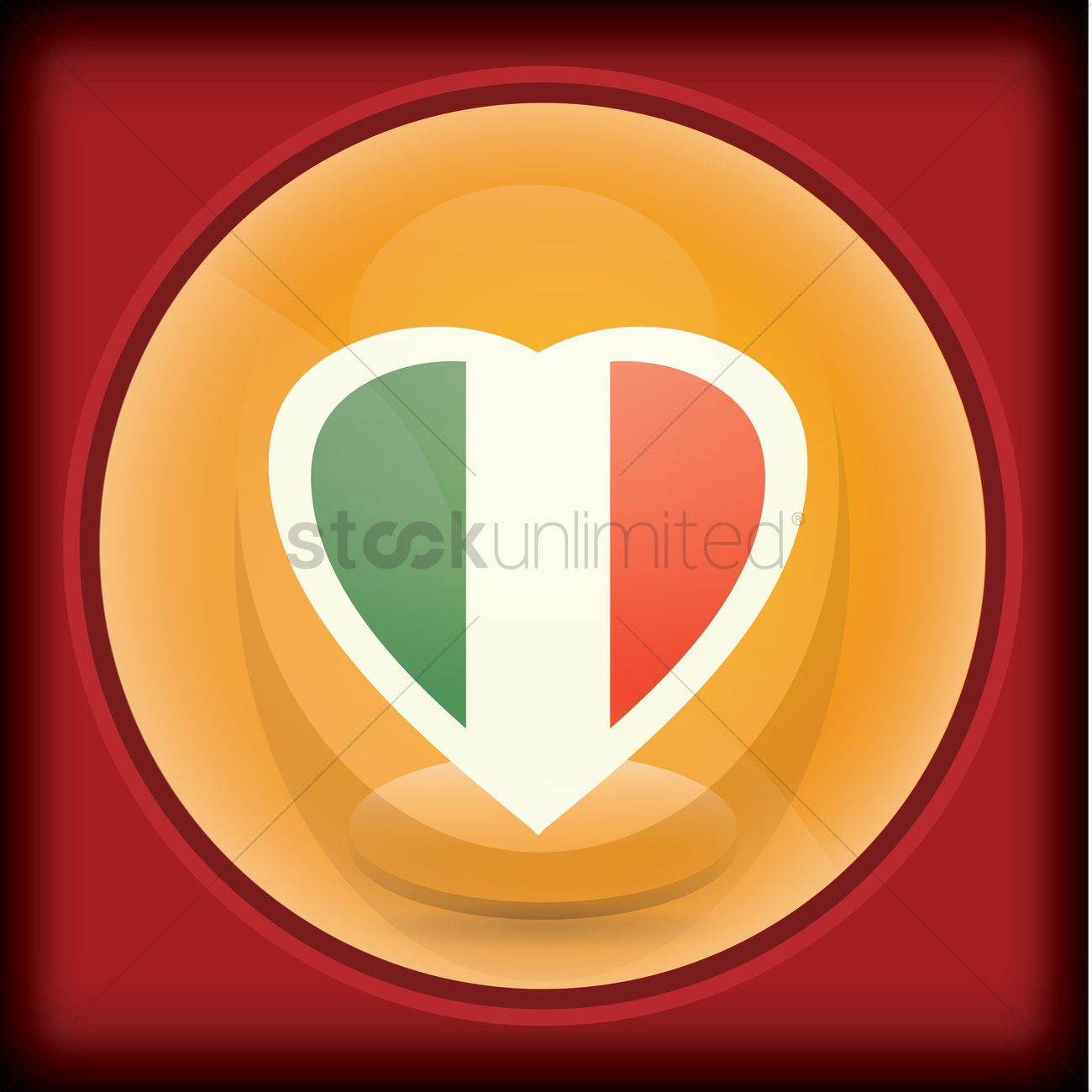 heart shaped mexican flag colors vector image 2013823
