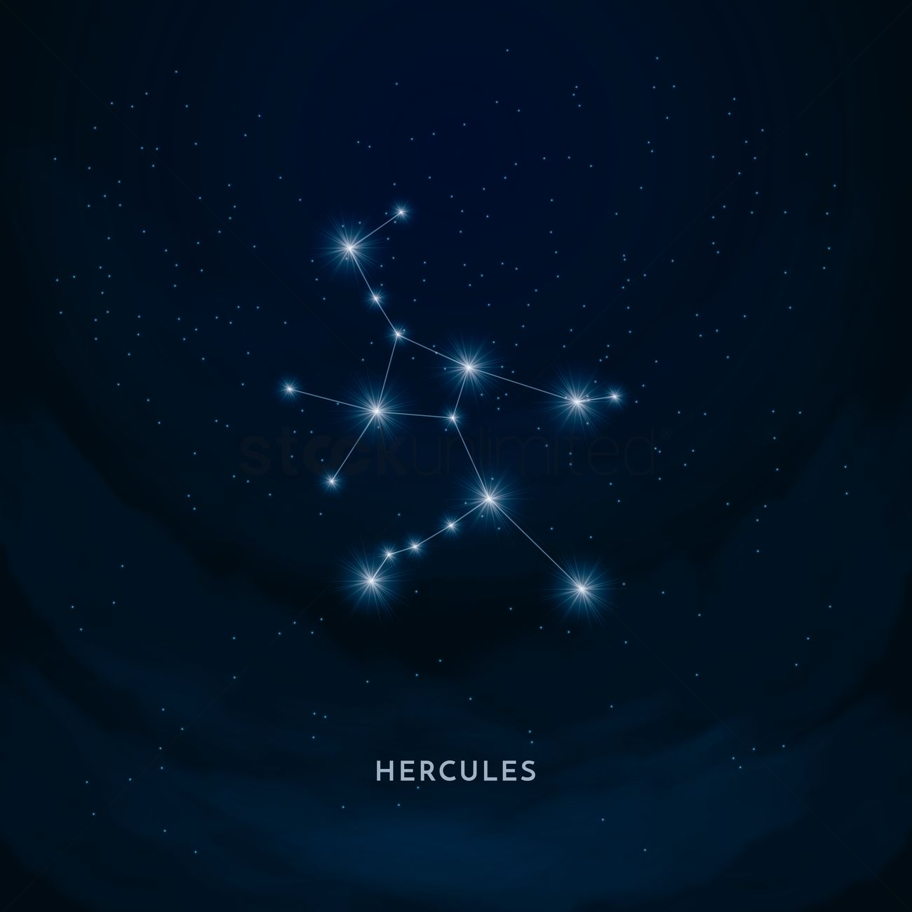 Hercules Constellation Vector Image 1555403 Stockunlimited