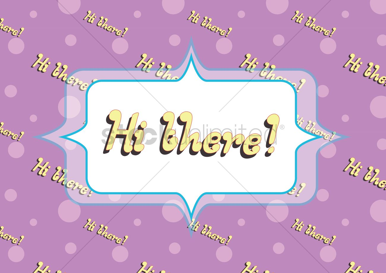 Hi There Greeting In A Speech Bubble Vector Image 1397451