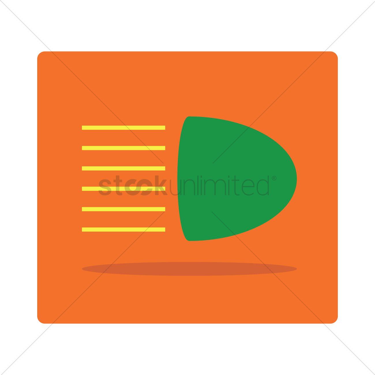 Free High Beam Light Symbol Vector Image 1253491 Stockunlimited
