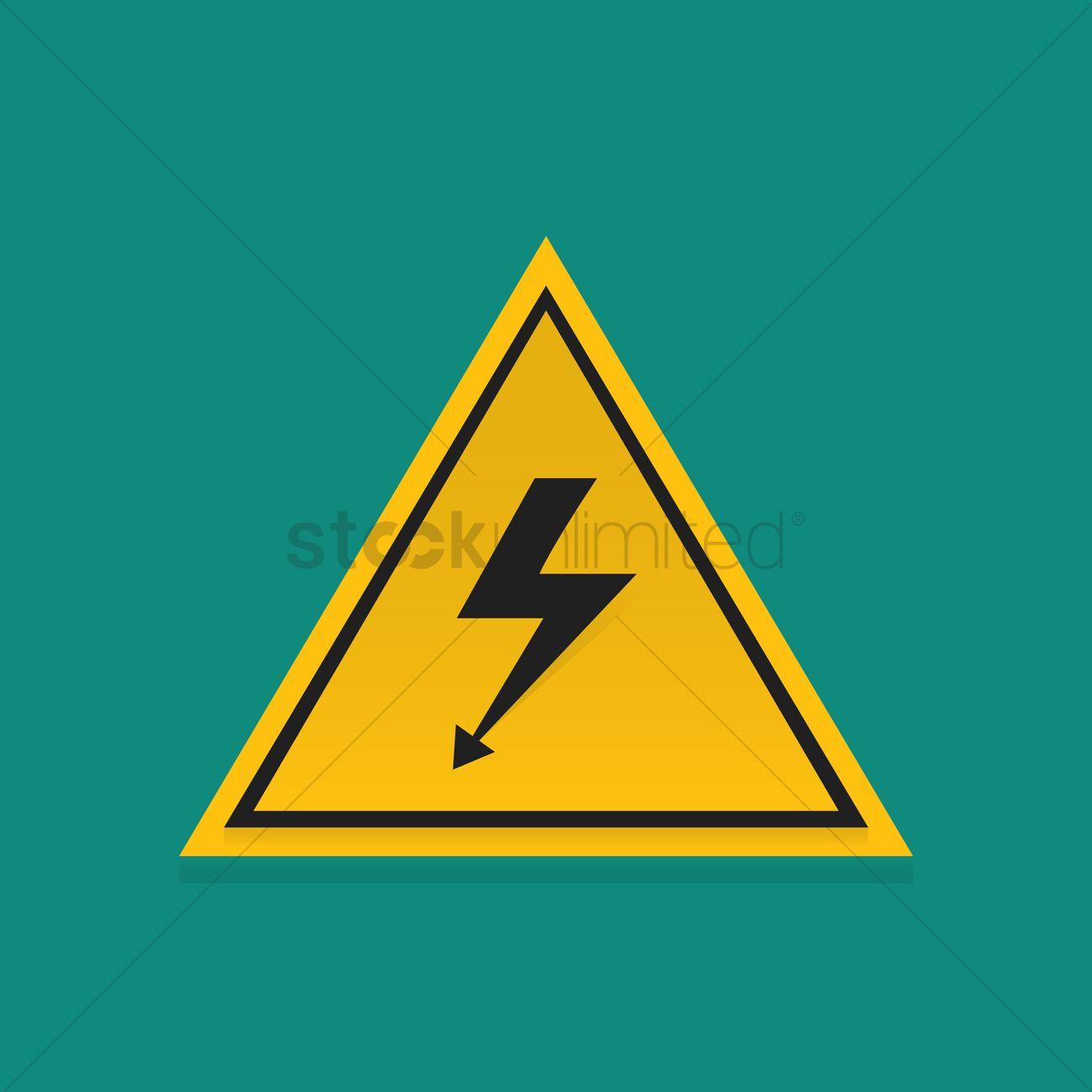 High Voltage Symbol Vector Image 1347651 Stockunlimited