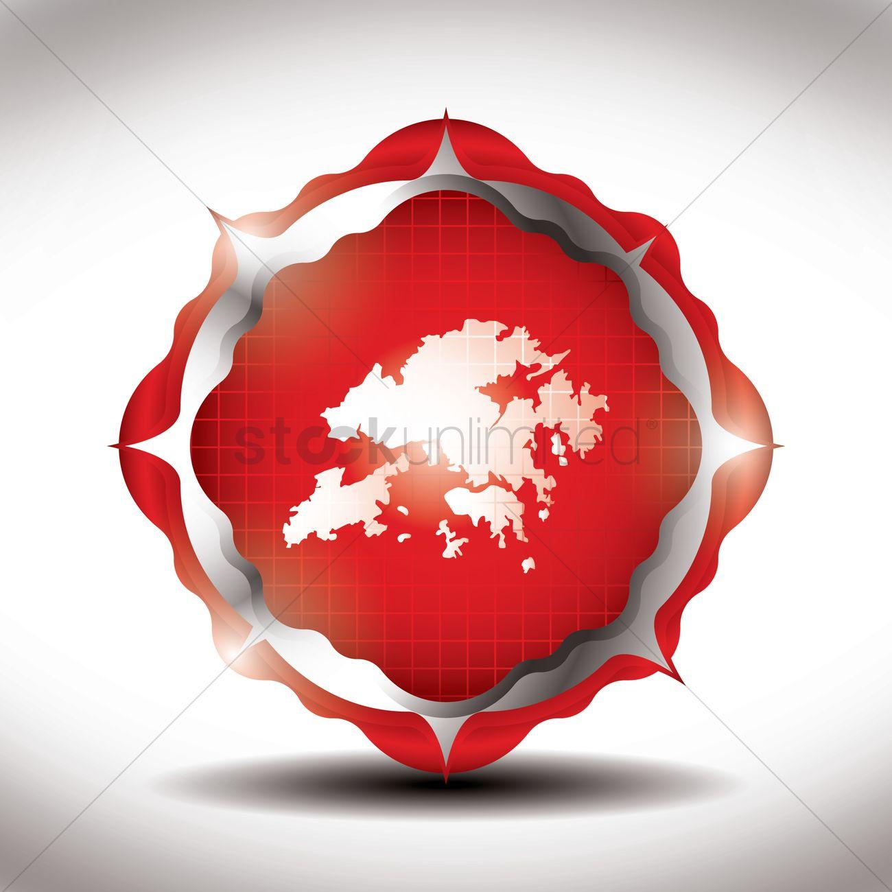 Hong kong map icon Vector Image - 1597107 | StockUnlimited
