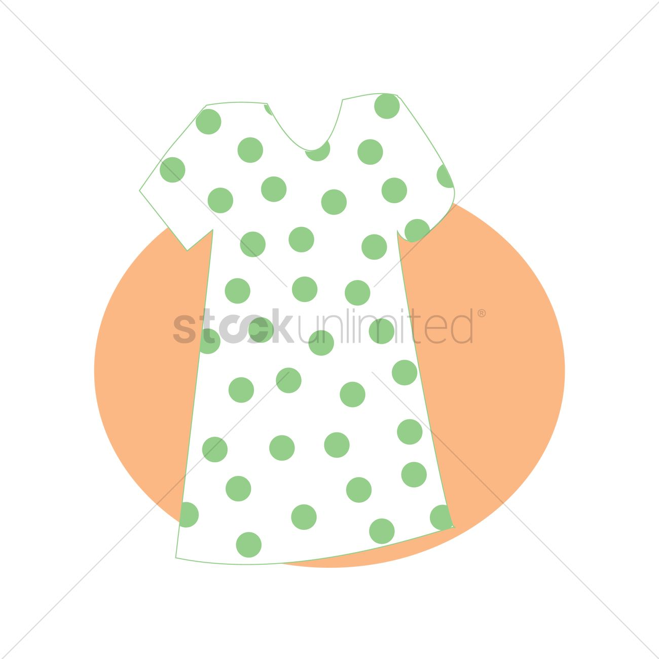 Hospital gown Vector Image - 1303167 | StockUnlimited