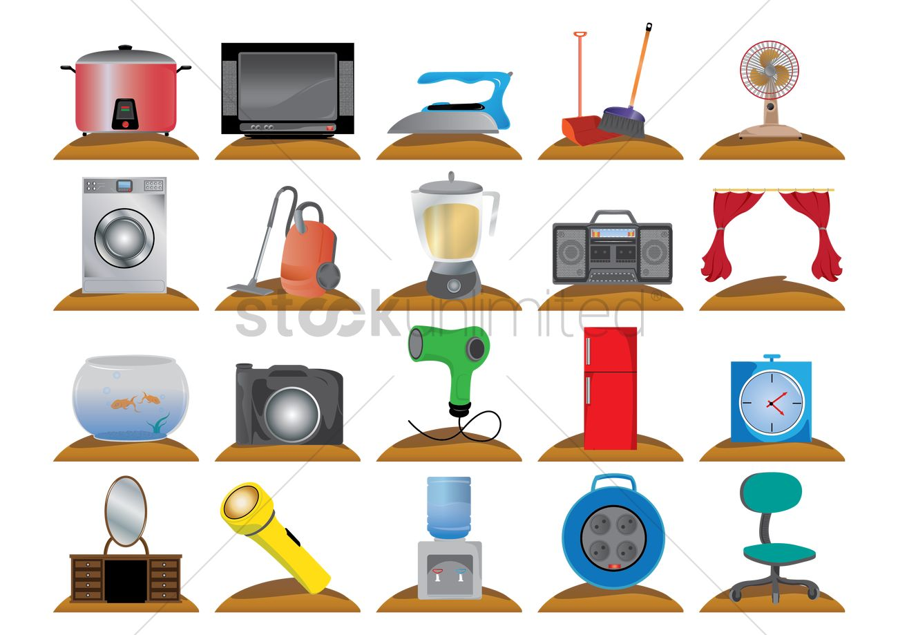 Household electrical items Vector Image - 1448119 | StockUnlimited
