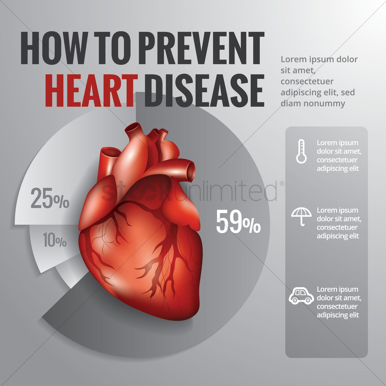 How To Prevent Heart Disease Diagram Vector Image