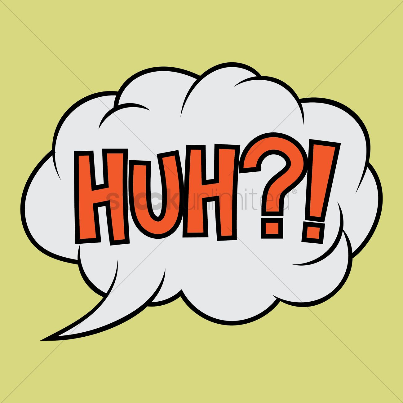 Huh text with comic effect Vector Image - 1823159 | StockUnlimited