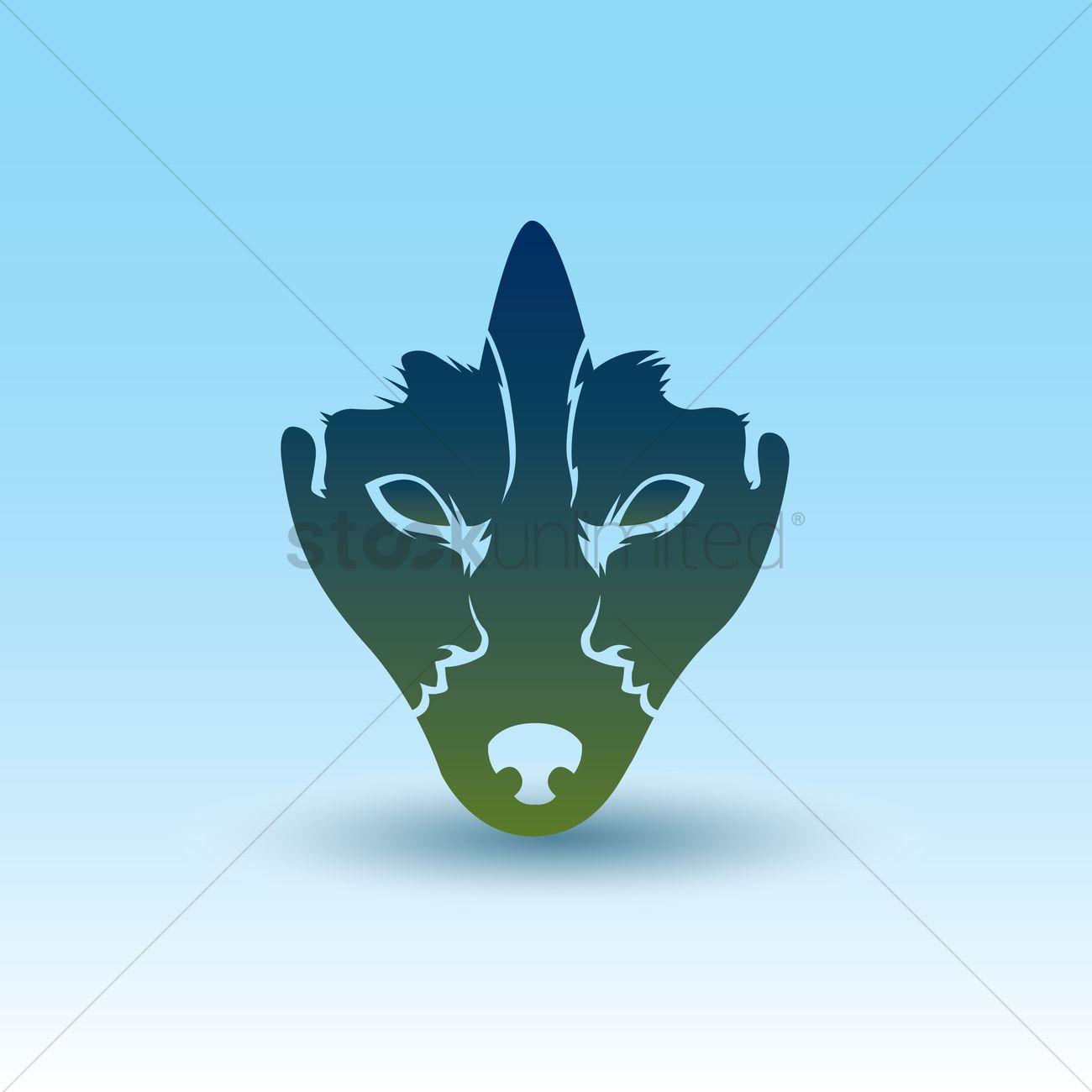 optical human illusion dog face vector stockunlimited illustration