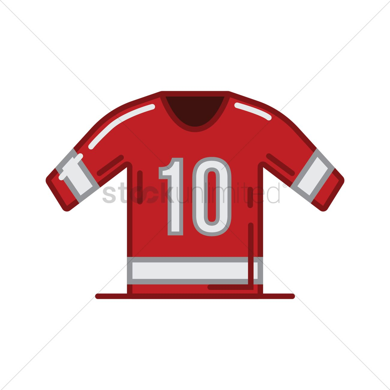 3999f2d00c8 Ice hockey jersey Vector Image - 1962979