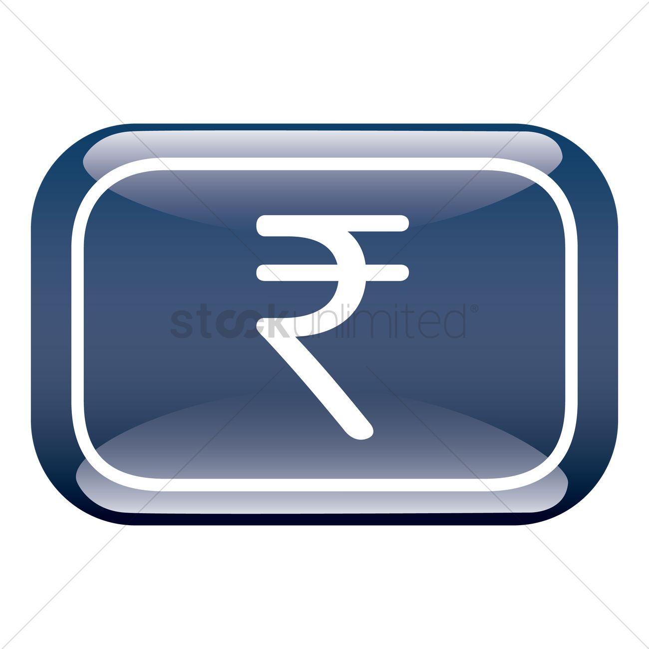 India Rupee Currency Symbol Vector Image 1306111 Stockunlimited