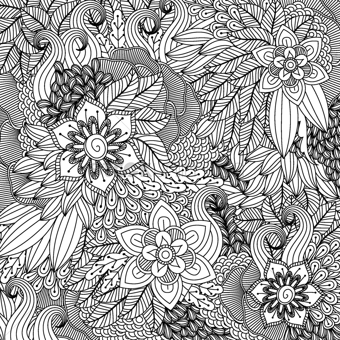 Intricate Floral Design Vector Image 1998875
