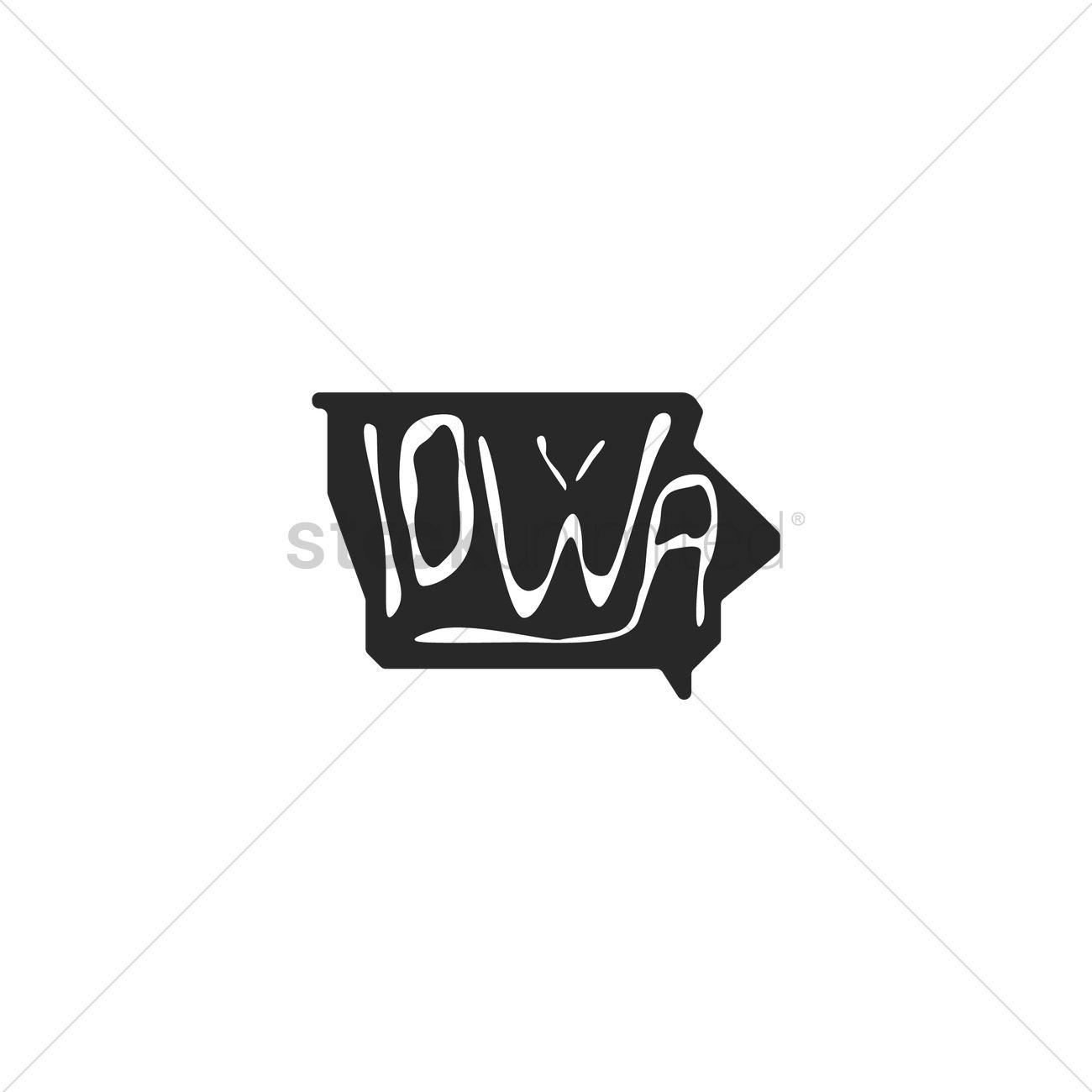iowa state map ベクタークリップアート 1557119 stockunlimited