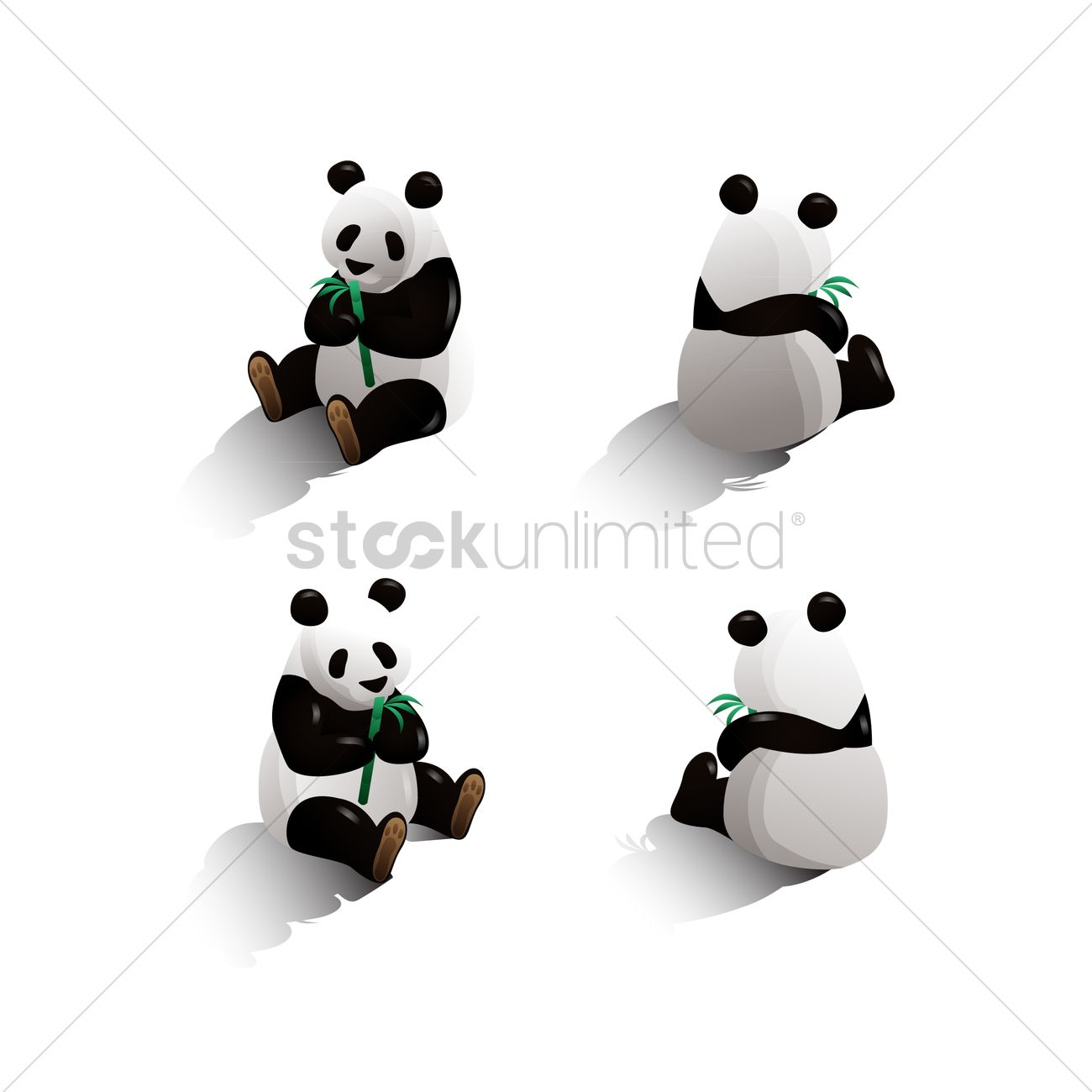 isometric panda vector image 1551943 stockunlimited