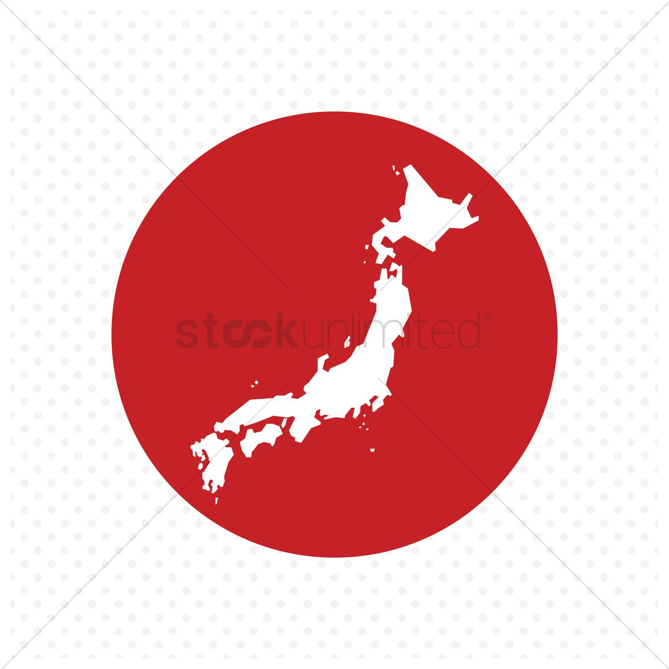 Japan Map Vector Image StockUnlimited - Japan map red