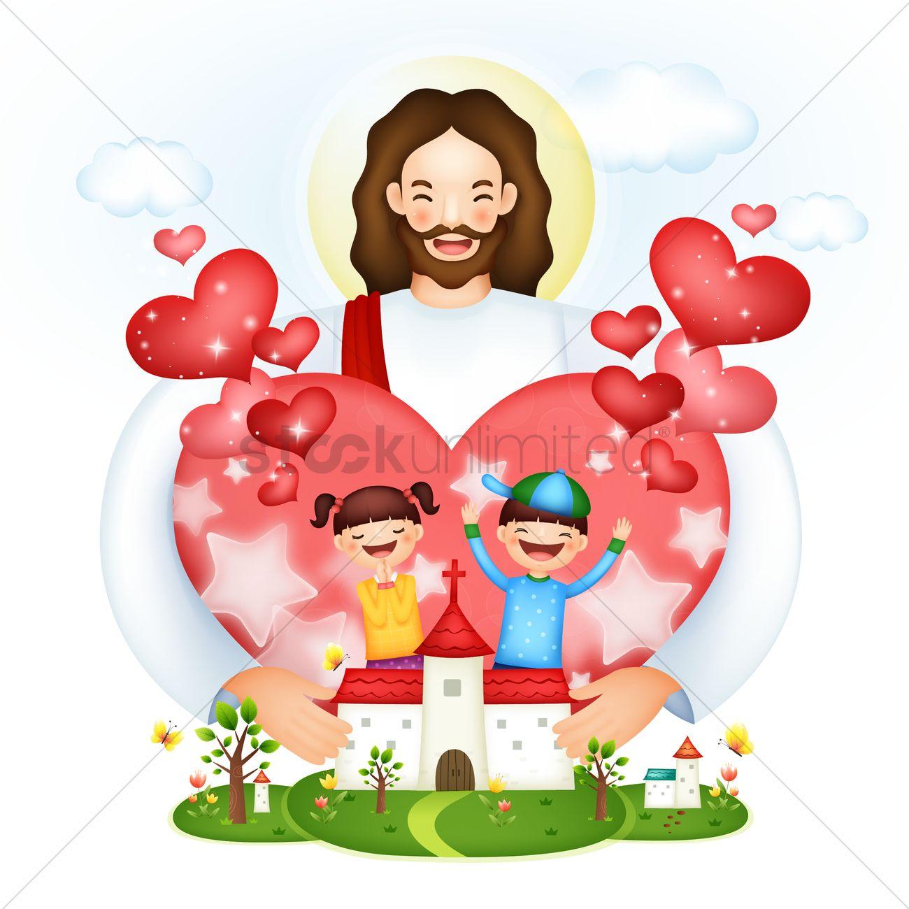 Jesus love Vector Image - 1492695   StockUnlimited