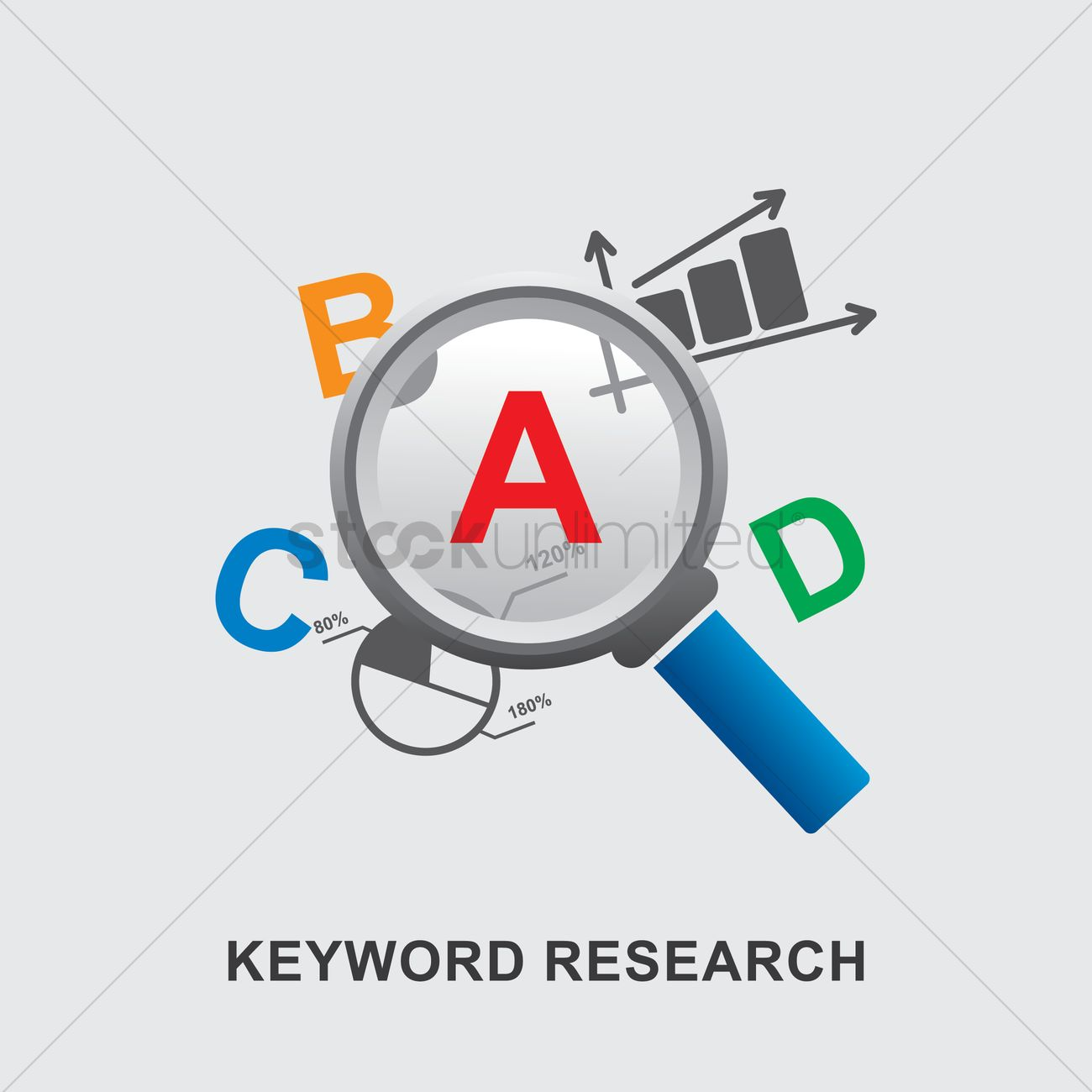 Keyword research Vector Image - 1824043 | StockUnlimited