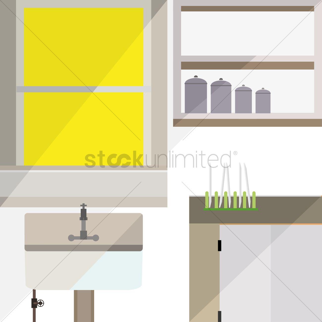 Kitchen Interior Vector Image 1410003 Stockunlimited
