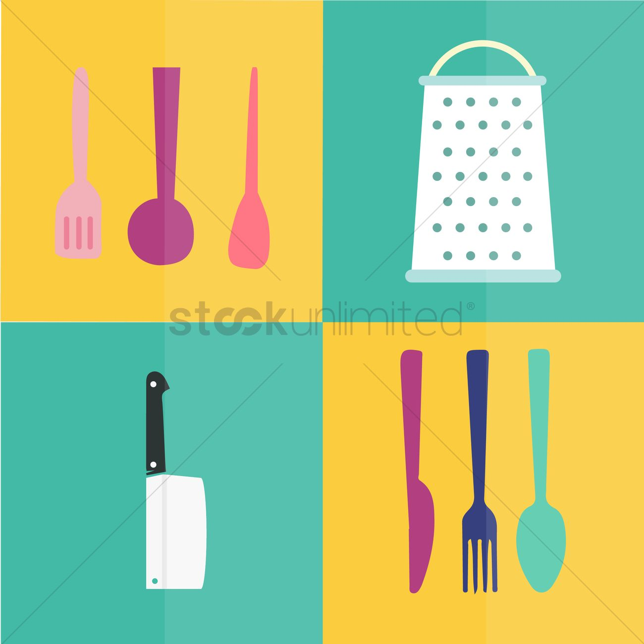 Kitchen utensils Vector Image - 1471735   StockUnlimited