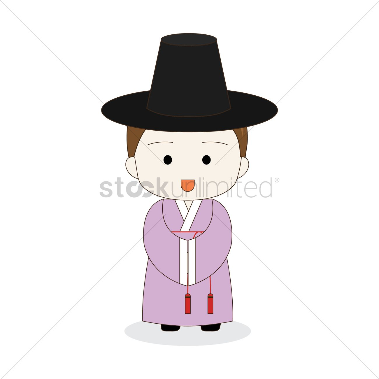 Korean Boy In Traditional Hanbok Vector Image 2014051 Stockunlimited