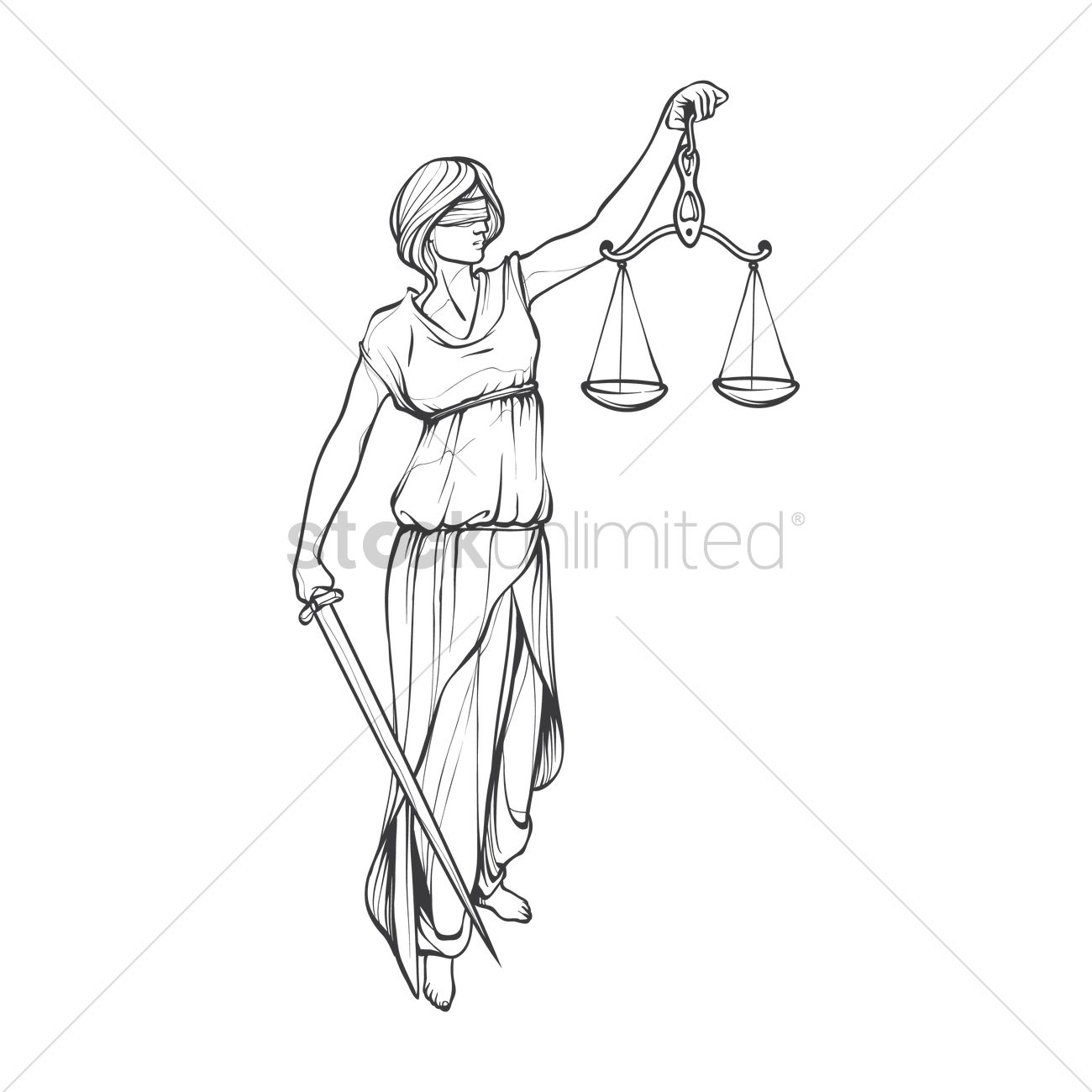 Lady justice statue vector image 1989339 stockunlimited lady justice statue vector graphic buycottarizona