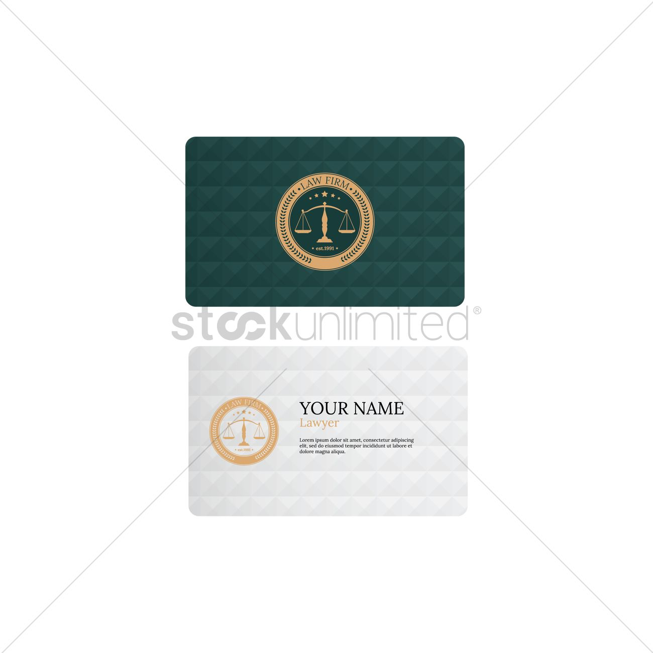 Law firm business card Vector Image - 1969771 | StockUnlimited