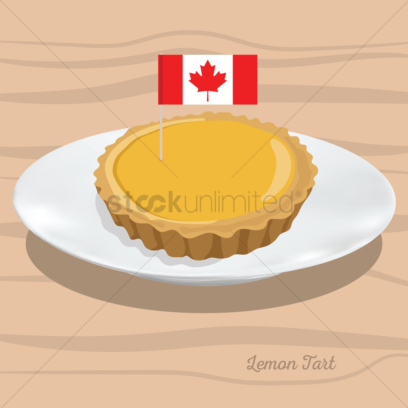 Lemon Tart Vector Image 1586955 Stockunlimited