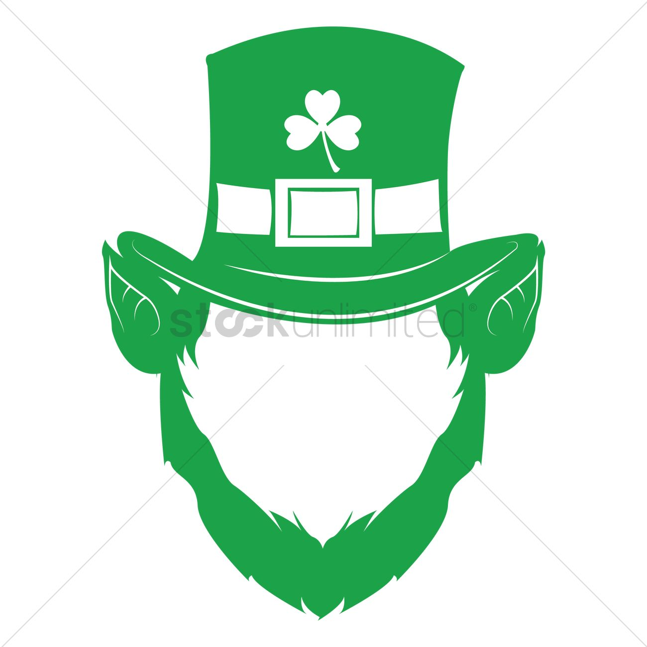 leprechaun face with hat and beard vector image 1495419 rh stockunlimited com leprechaun vector free leprechaun hat vector
