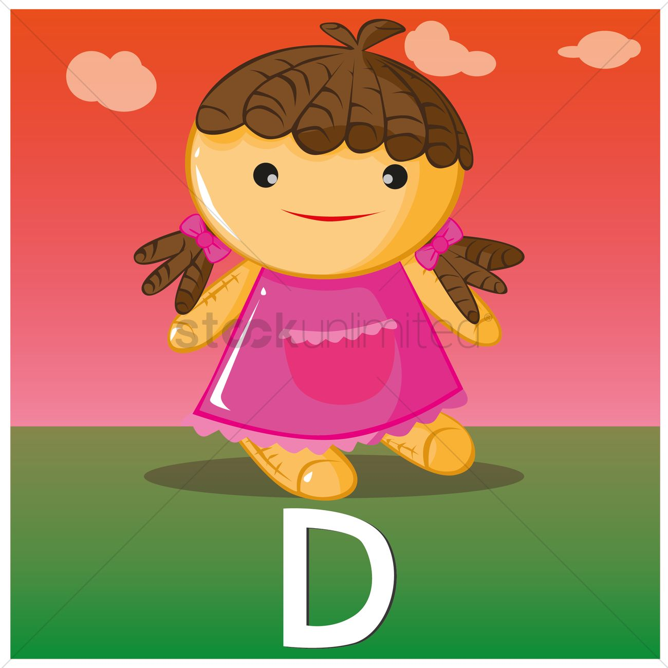 Letter d for doll Vector Image - 1398571 | StockUnlimited