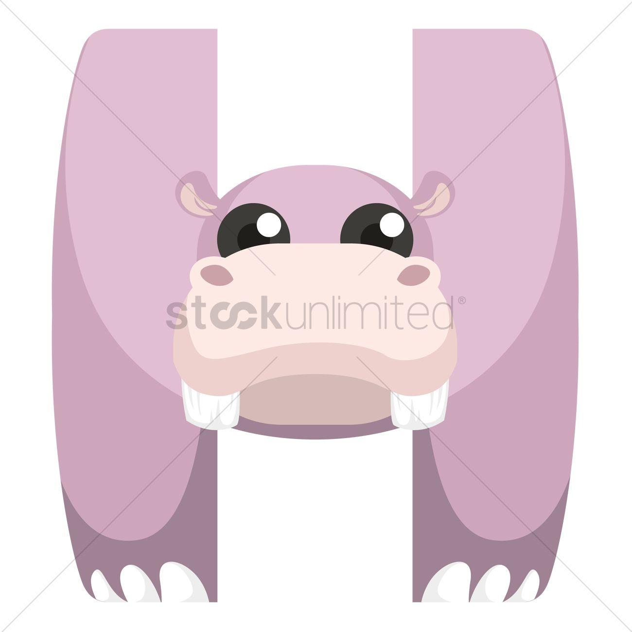 Free Letter h for hippopotamus Vector Image - 1236507 | StockUnlimited