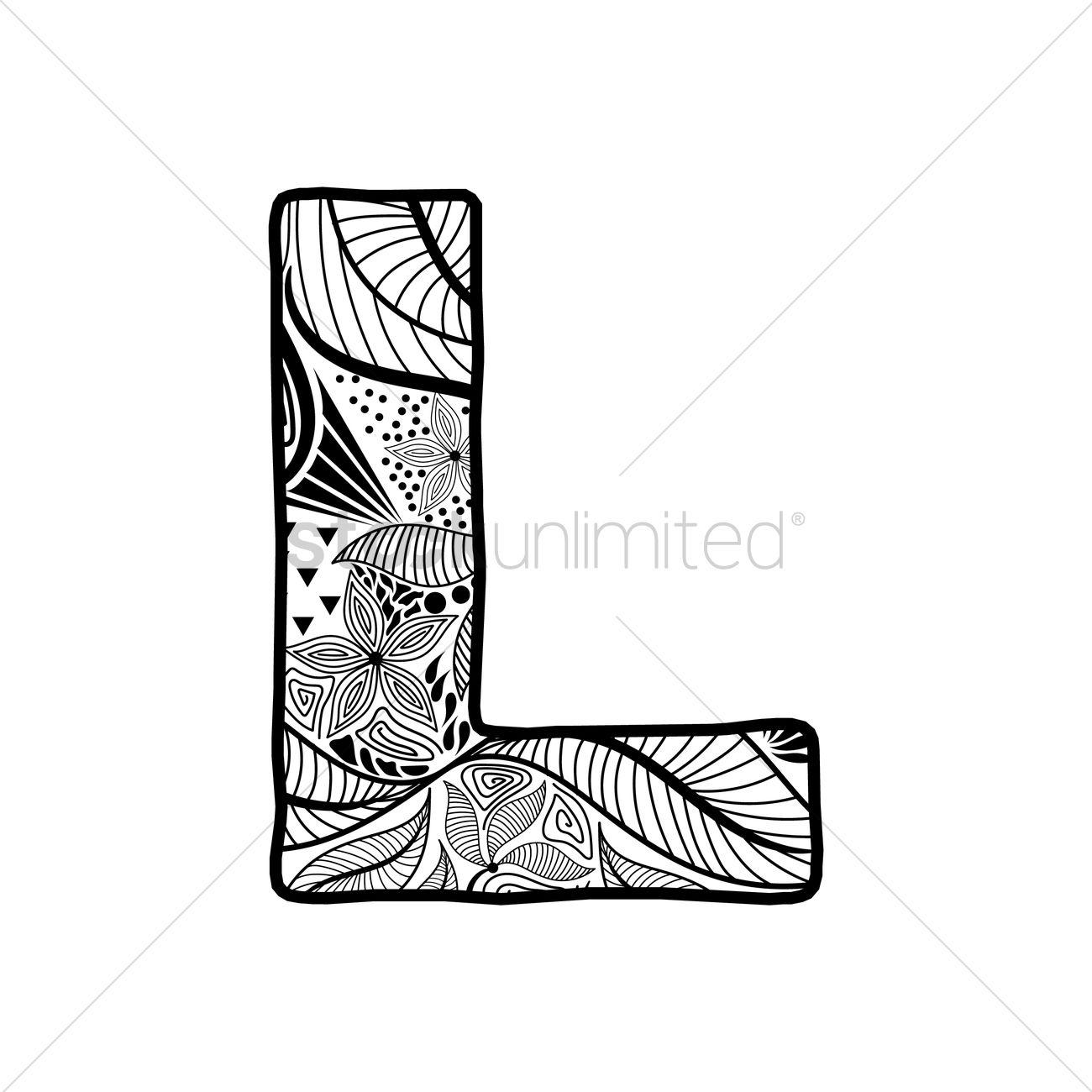 Letter L Vector Graphic