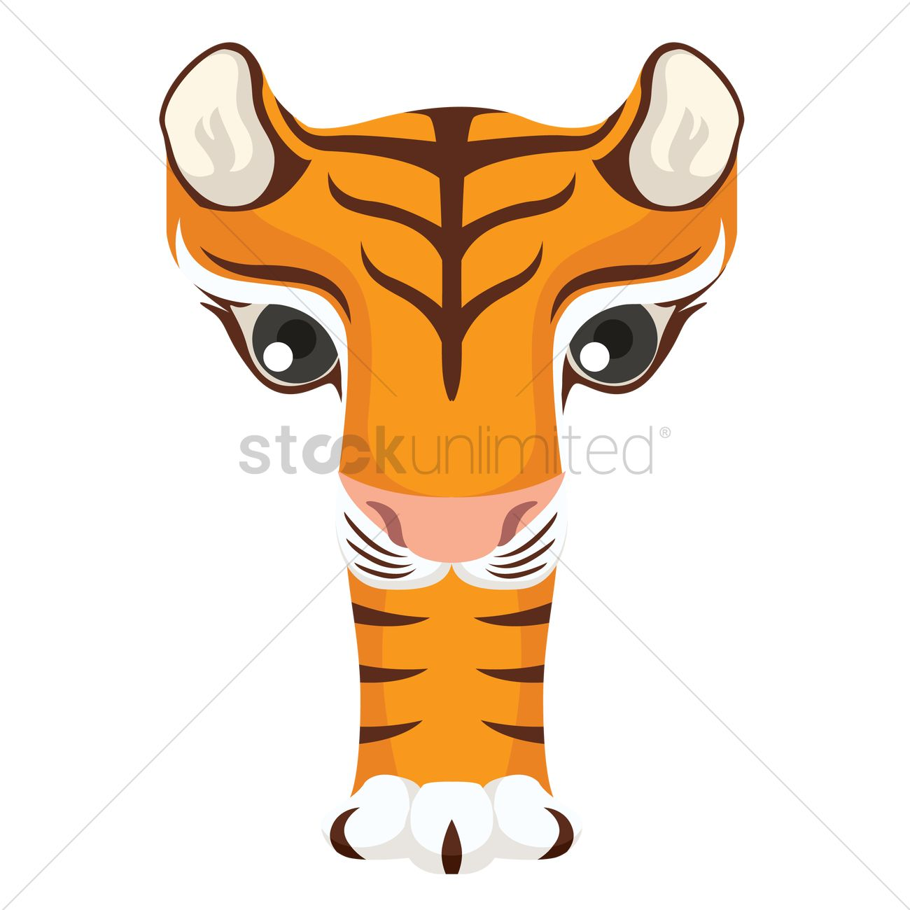 Letter T For Tiger Vector Graphic