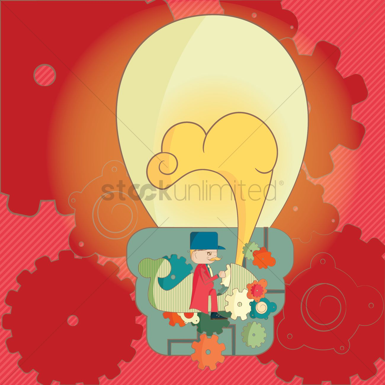 Free Lightbulb Concept Of Idea Generator Vector Image