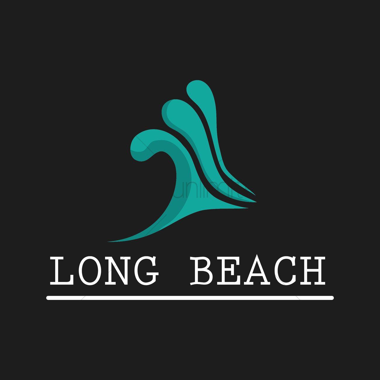 long beach wallpaper vector graphic