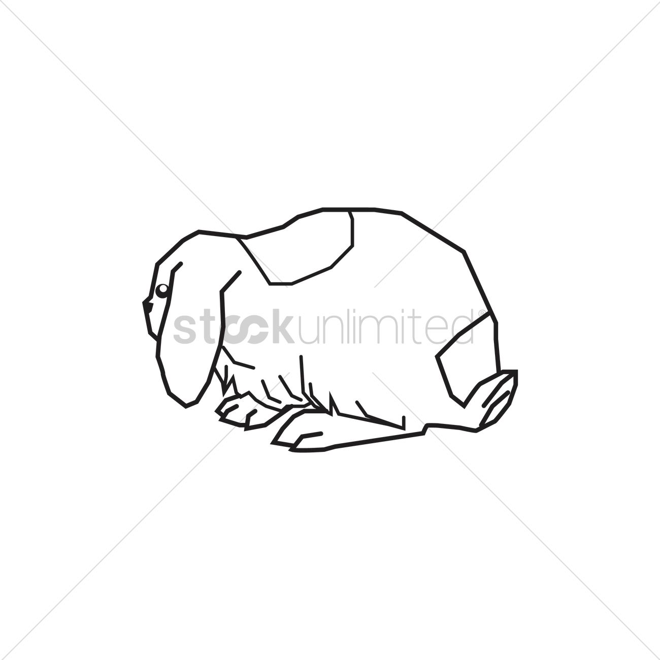 lopped ear rabbit outline vector image 1958567 stockunlimited