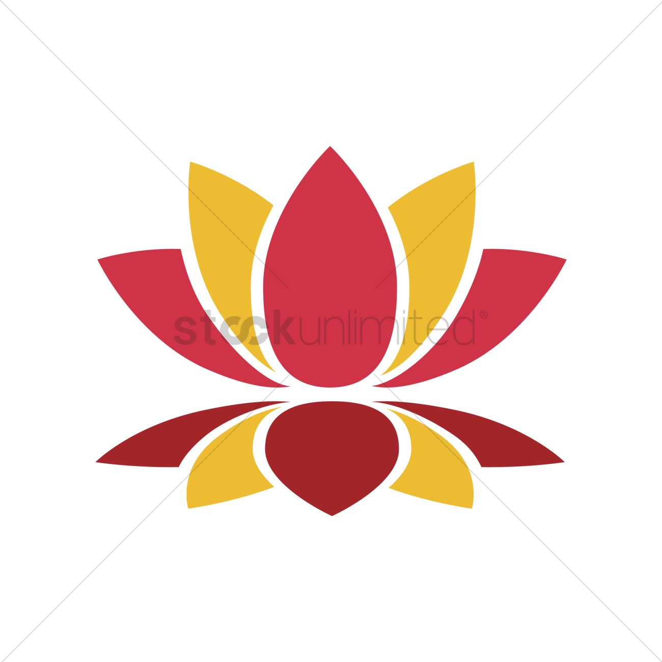 Lotus Flower Vector Image 1971183 Stockunlimited