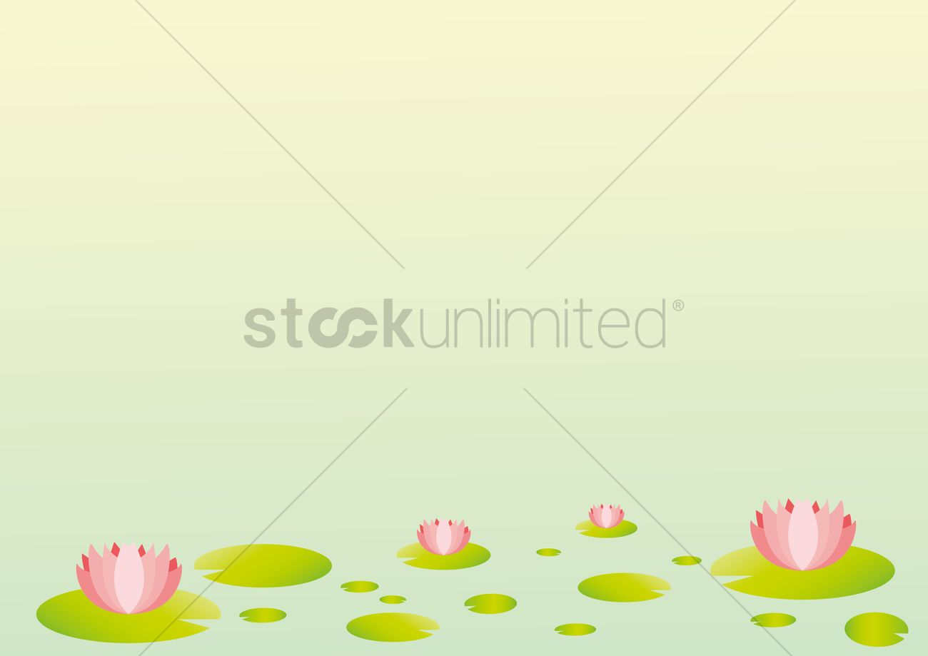 Lotus Flowers Background Vector Image 1491675 Stockunlimited