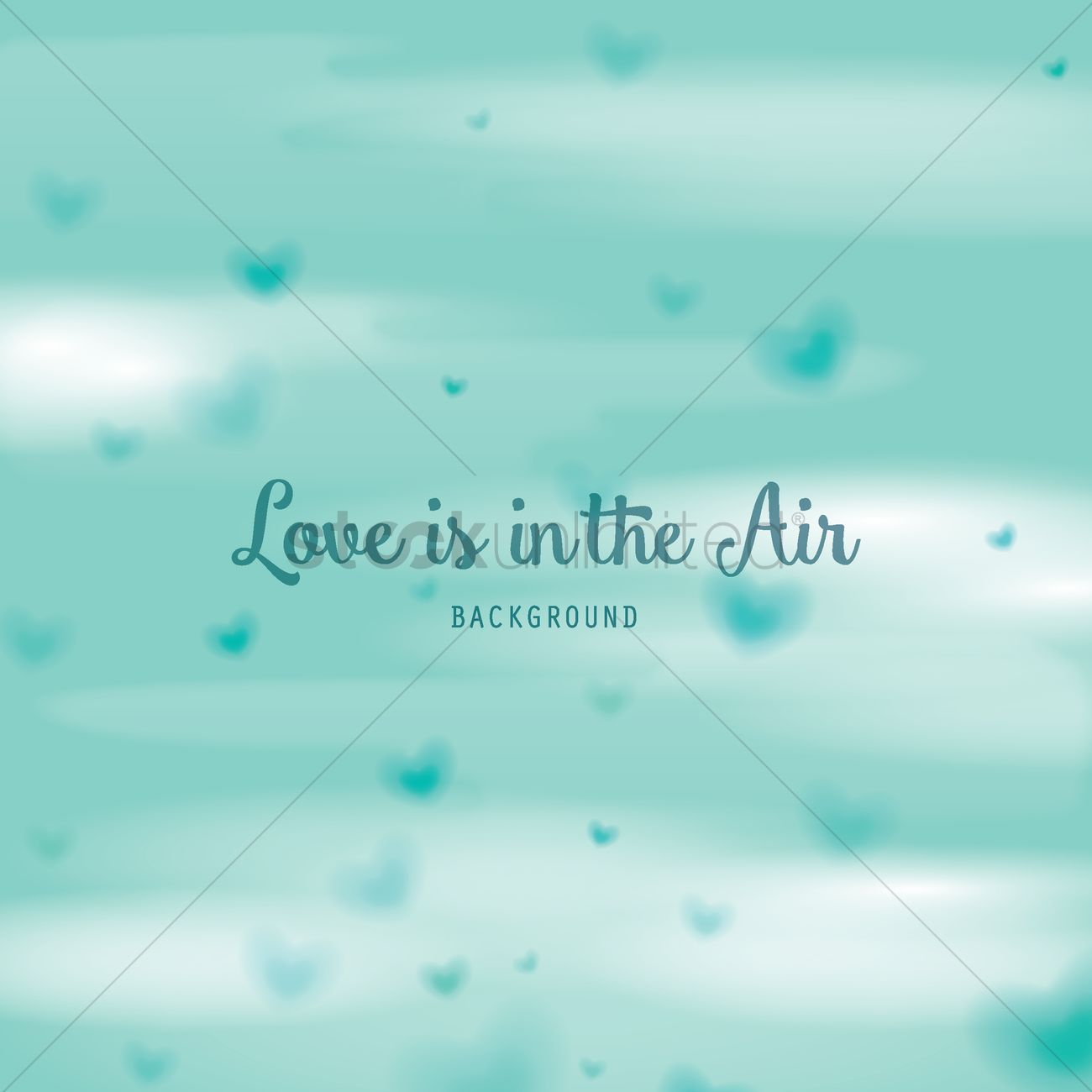 Love Is In The Air Background Vector Image 1799995 Stockunlimited