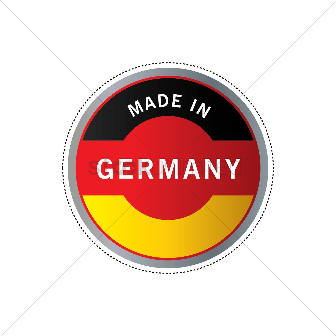 Made In Germany Label Design Vector Image 1980427 Stockunlimited