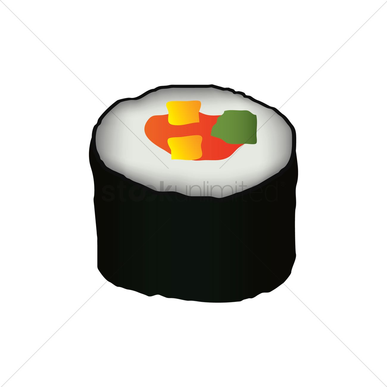 maki sushi roll vector image 1744355 stockunlimited rh stockunlimited com cute sushi clipart clipart sushis