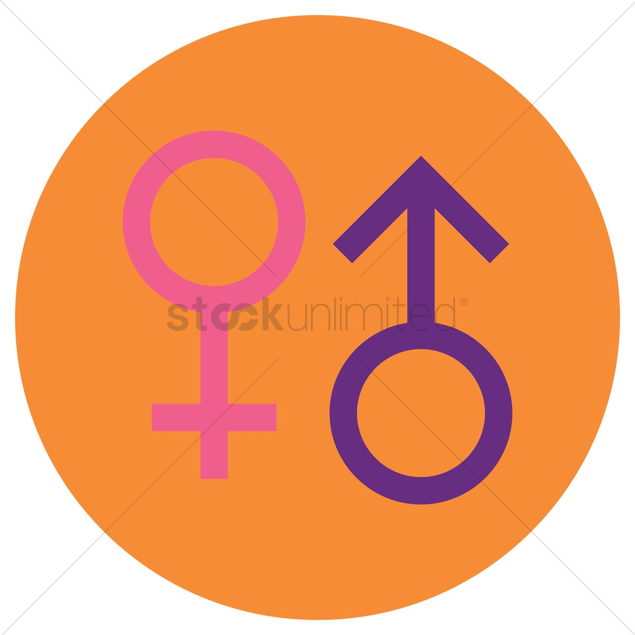 Male And Female Symbol Vector Image 1348463 Stockunlimited