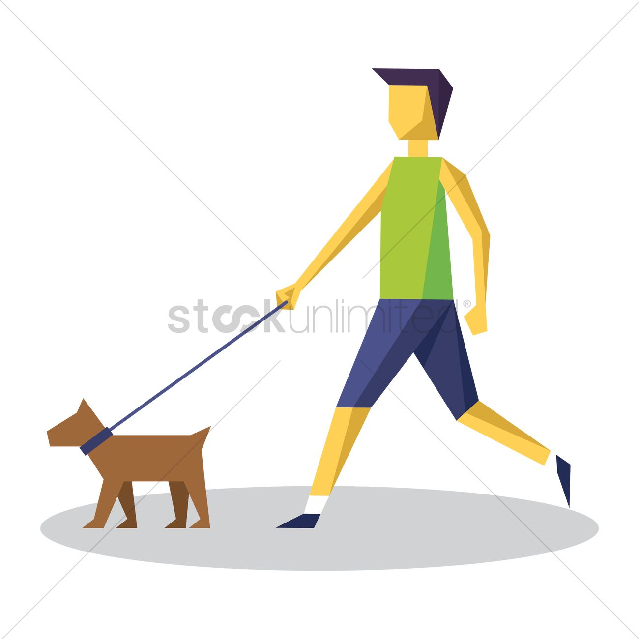 man taking dog for walk vector image 1542147 stockunlimited stockunlimited