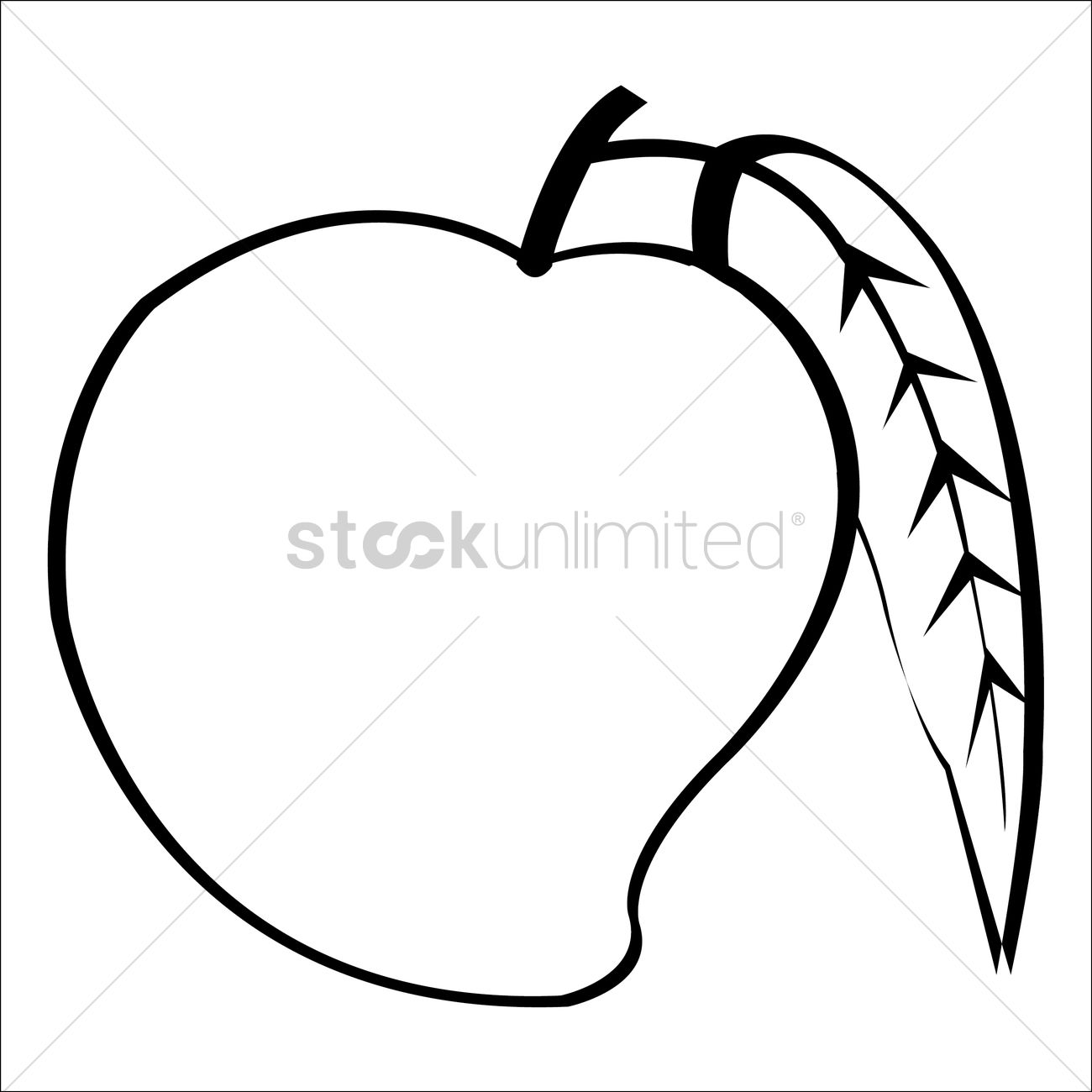 Line Art Mango : Mango vector image stockunlimited