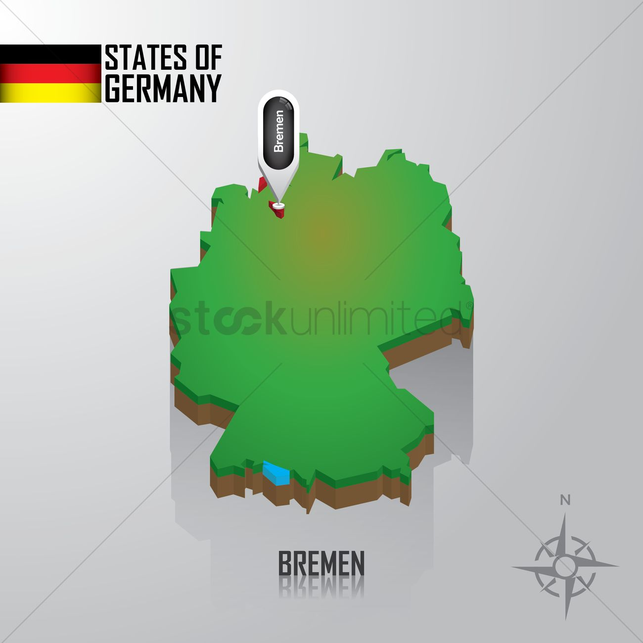 Map Of Bremen Germany Vector Image 1976779 Stockunlimited