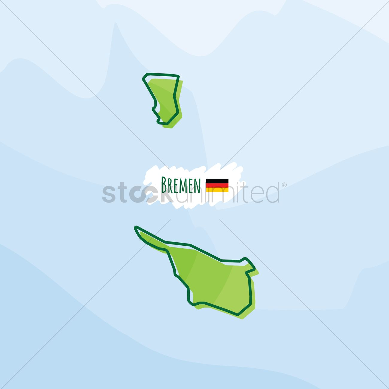 Map of bremen, germany Vector Image - 1980523 | StockUnlimited