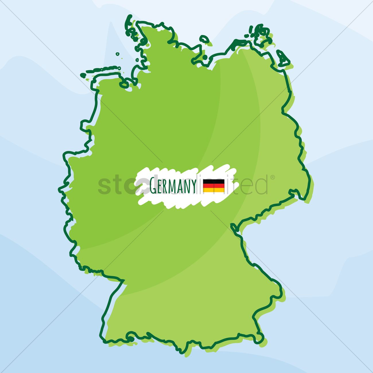 Map Of Germany 1980.Map Of Germany Vector Image 1980515 Stockunlimited