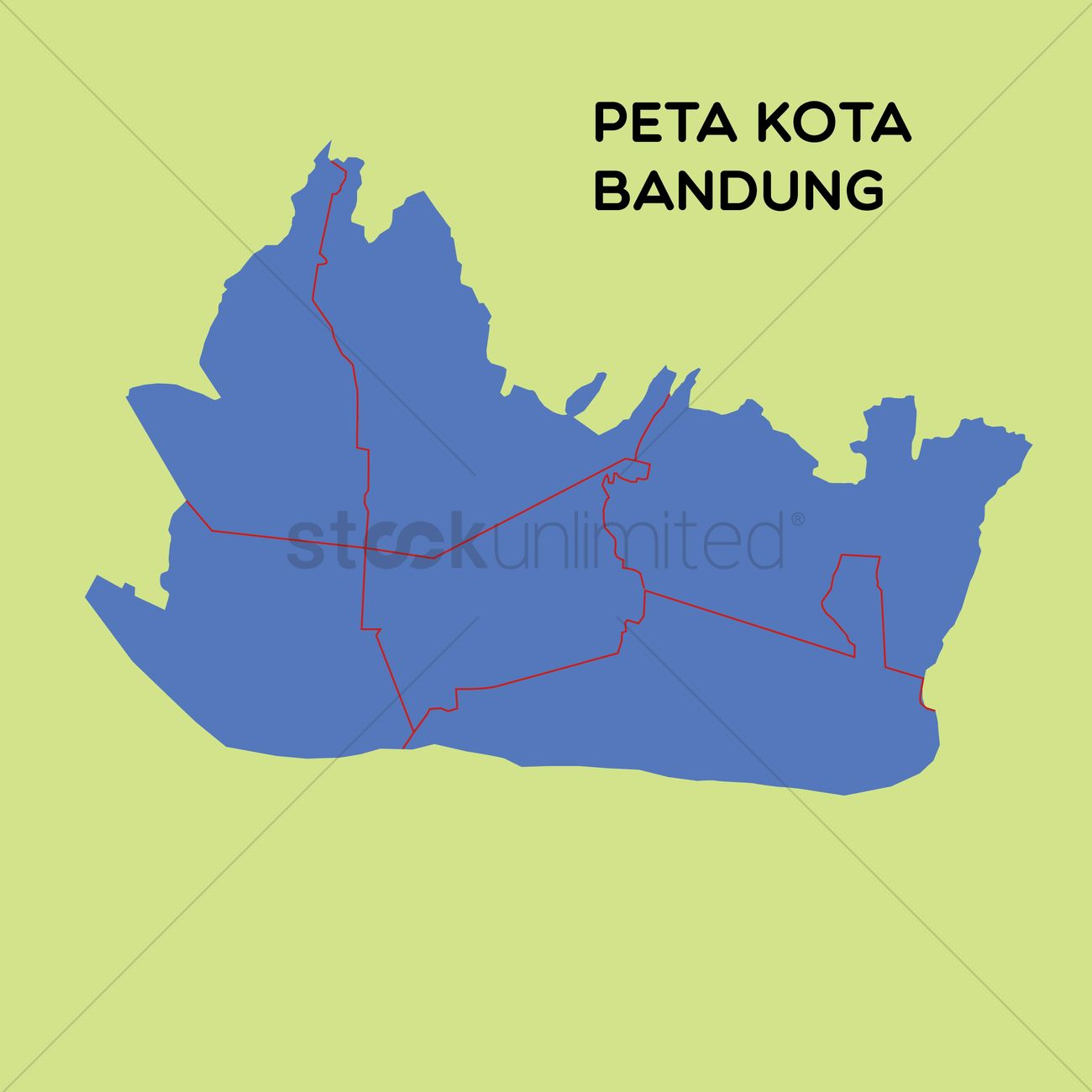 Map of kota bandung Vector Image 1480495 StockUnlimited
