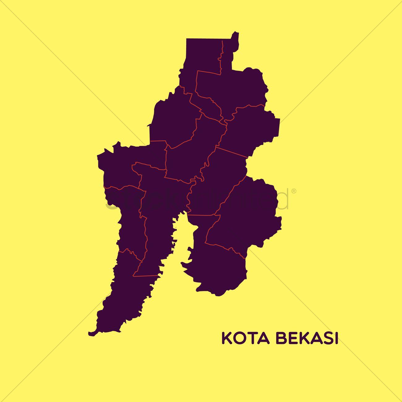Map of kota bekasi Vector Image 1480507 StockUnlimited