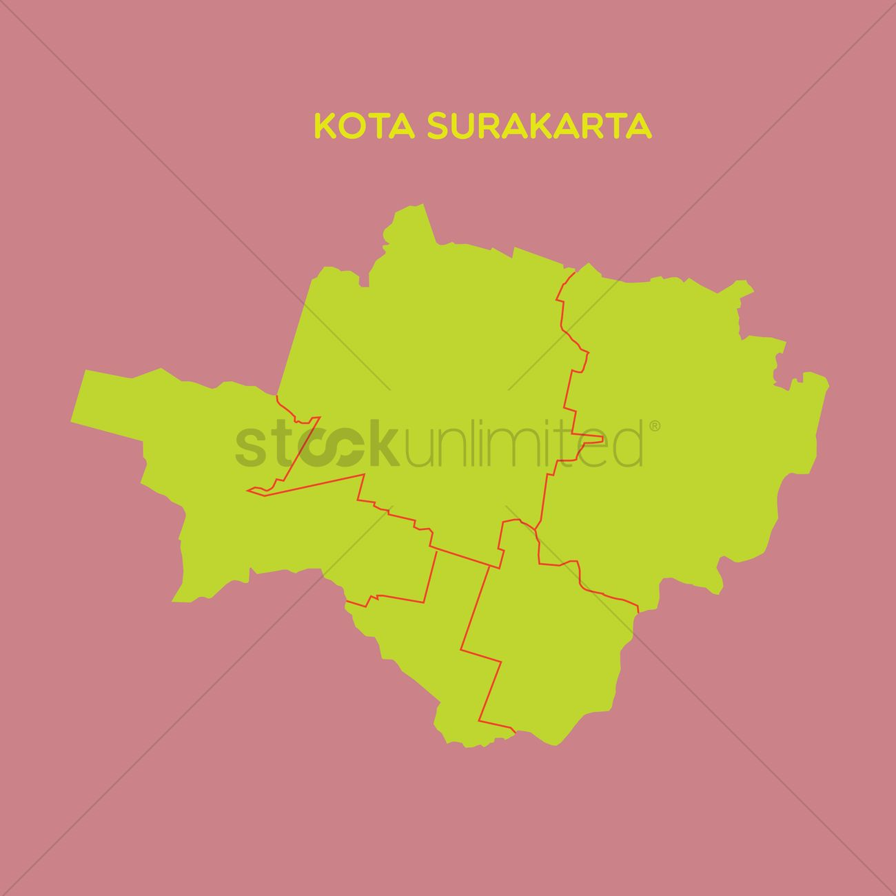 Map of kota surakarta Vector Image 1479795 StockUnlimited