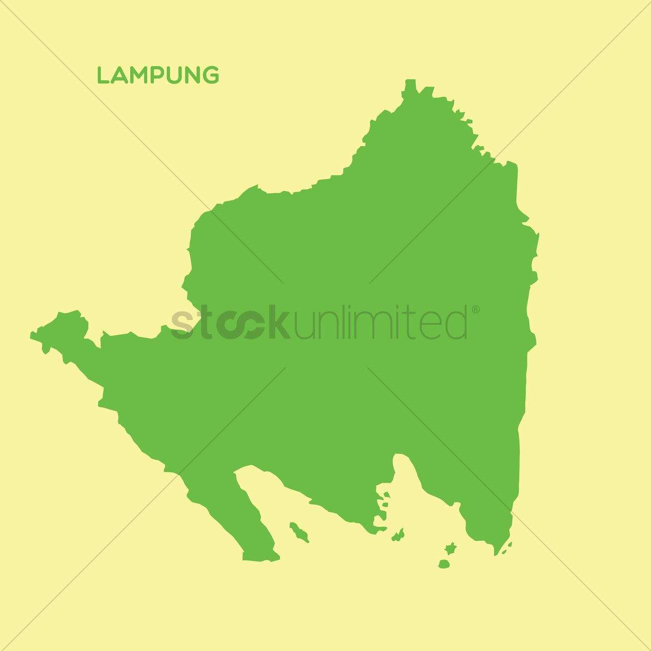Map of lampung Vector Image 1480407 StockUnlimited